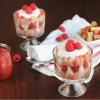 Mini Rhubarb Raspberry Trifles with Coconut Whipped Cream