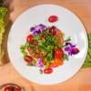 Snap Peas, Basil, Tomato and Cucumber Salad