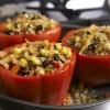 Mexican Quinoa Stuffed Peppers with Greenhouse Vegetables