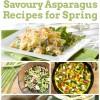 Savoury Asparagus Recipes for Spring!