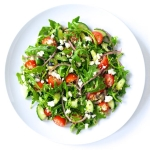 Arugula Greek Salad with Quinoa