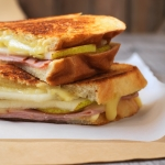 Grilled Cheese with Pear and Ham