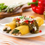 Asparagus and Chicken Enchiladas