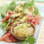 Grilled Thai Chicken with Watermelon Rind Chutney