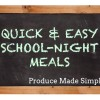 Easy School-Night Meals