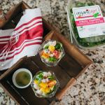Mâche Rosettes Citrus Shrimp Salad