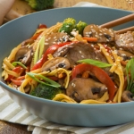 Veggie-Loaded Beef Chow Mein