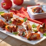 Pancetta Wrapped Nectarines with Basil