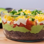 Black Bean Avocado Layer Dip