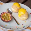 Passion fruit cream puffs