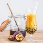 Passion Fruit Mango Bubble Tea