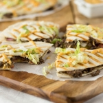 Cheeseburger Quesadillas with Mushrooms