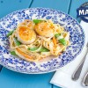 Scallop Fettuccine and Sugar Snap Peas