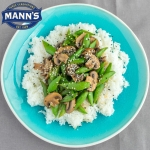 Sugar Snap Peas and Mushrooms