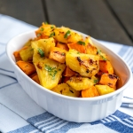Roasted Pineapple and Sweet Potato
