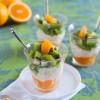 Chilean Orange Kiwi Tapioca Parfait