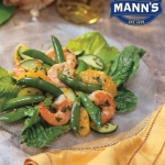 Citrus Shrimp Salad & Sugar Snap Peas with Romaine Hearts