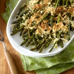 Lemon Roasted Asparagus Gratin