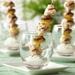 Mediterranean Mushroom and Chicken Skewers