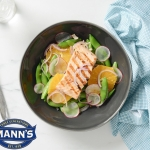 Snap Pea and Orange Salad with Grilled Salmon