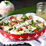 Greek Chicken Orzo Power Bowls