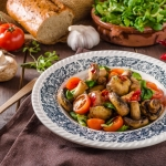 Warm Ontario Mushroom and Tomato Salad