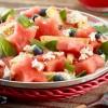 Watermelon Panzanella with Balsamic Reduction