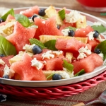 Watermelon Panzanella with Balsamic Reduction