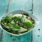 Pear, Walnut and Spinach Salad