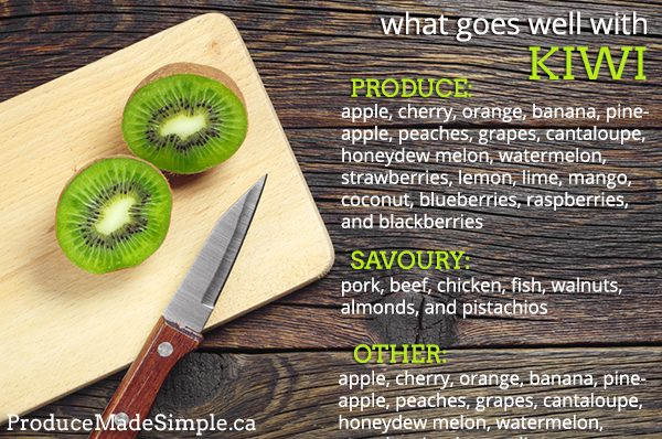 What goes well with kiwi
