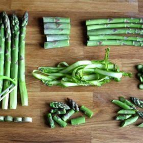 Different ways you can prepare, cut, peel asparagus