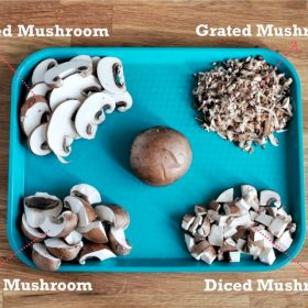 different ways to cut mushrooms