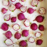 easy roasted radishes