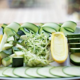 different ways you can cut zucchini