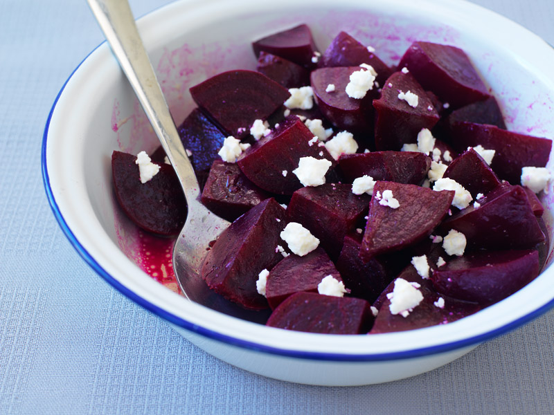 Roasted Beets, Marinated Beets with Feta Cheese