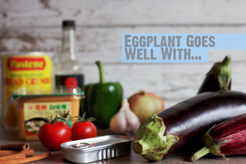 what does eggplant go well with