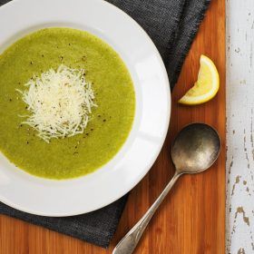 No cream broccoli soup