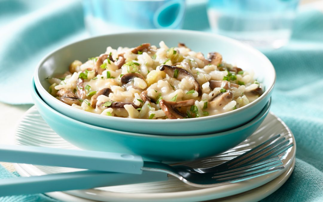 Ontario Mushroom, Leek and Herb Risotto