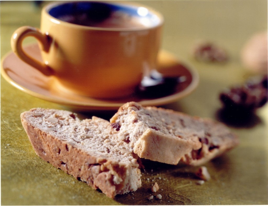 Lemon and Walnut Biscotti