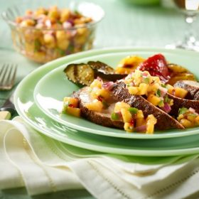 Grilled Pork Tenderloin with Ontario Peach Salsa