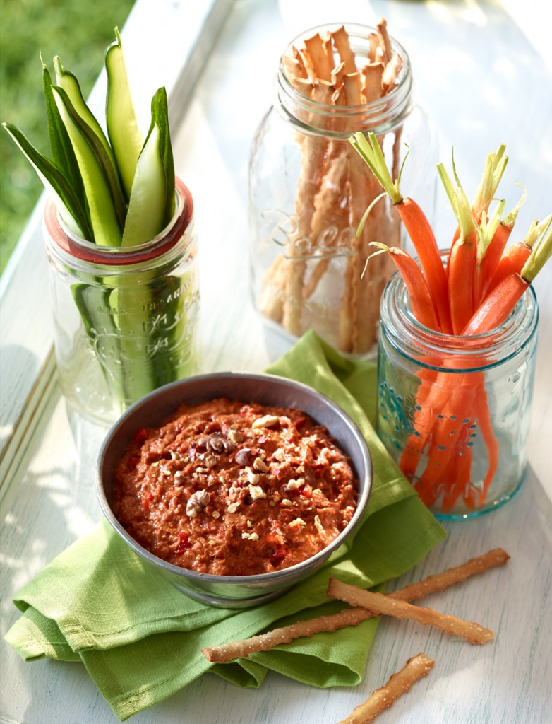Spicy Ontario Greenhouse Roasted Red Pepper Dip