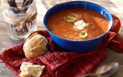 Fresh Ontario Greenhouse Tomato-Basil Soup