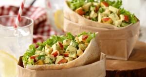 Curried Ontario Nectarine & Chicken Salad Stuffed Pita