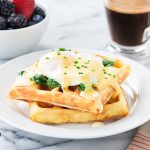 Bistro Fresh Mashed Potato Waffles Eggs Benedict 1000px