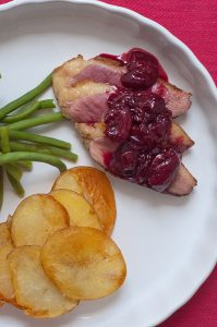 Sweet Cherry with duck recipe
