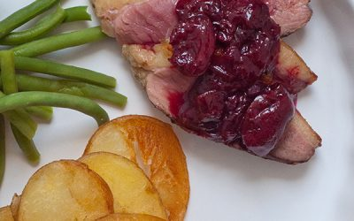 Duck with Red Wine Cherry Sauce