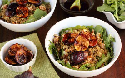 Balsamic Honey Grilled Fig Quinoa Bowl
