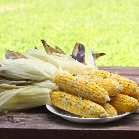 Grilled Corn with Chipotle Cilantro Lime Butter