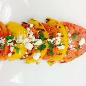 Grilled Heirloom Tomato Salad - Nature Fresh Farms