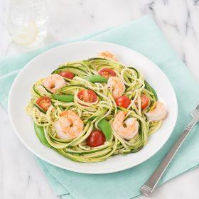 Zucchini zoodle pasta - Shrimp Scampi